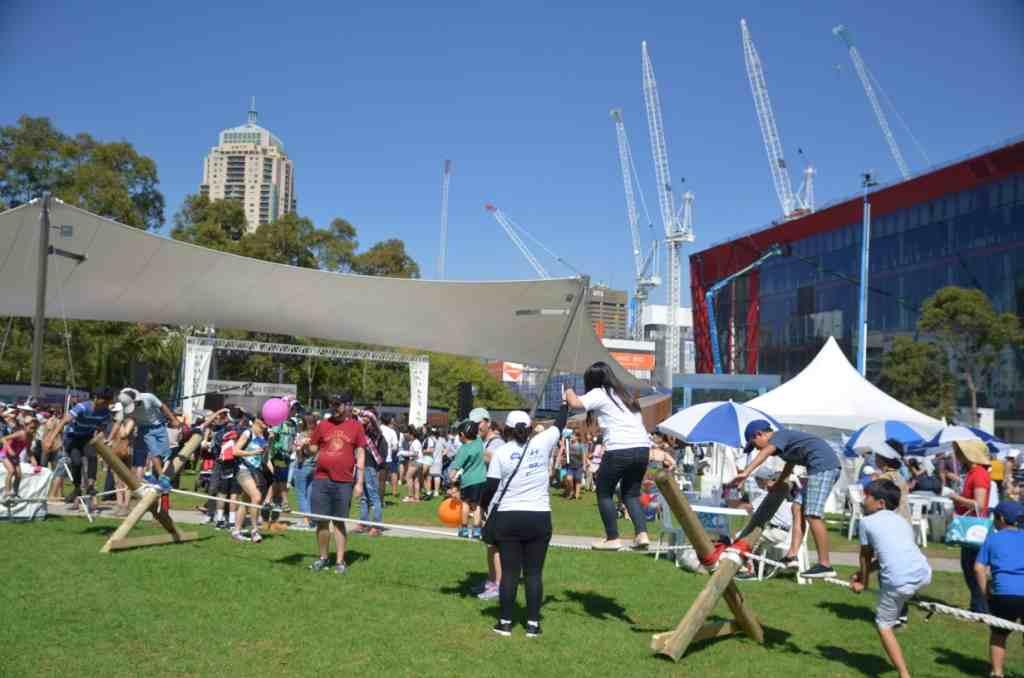 Sydney Korean Festival, trying Korean tight-rope