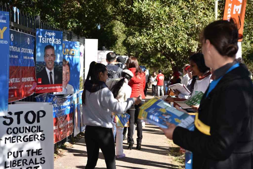 연방선거 한인밀집 리드지역 투표소, 유권자-자봉 열기 후끈
