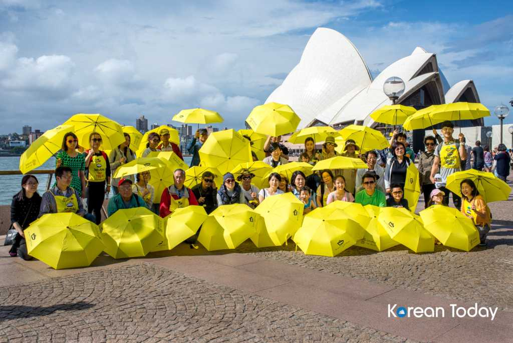 Sewol Yellow Umbrella Project Sydney Opera House