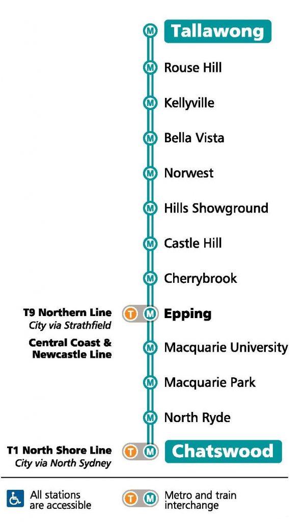 Metro North West line