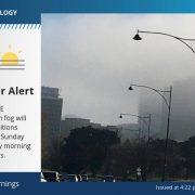 23일 멜번 최저기온에 짙은 안개