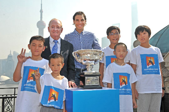 AO-2016---Rod-Laver,-Rafael-Nadal-and-local-tennis-fans-in-Shanghai-to-launch-Australian-Open-2016
