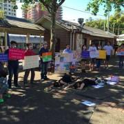 '가만히있으라 호주' 스트라스필드 침묵시위