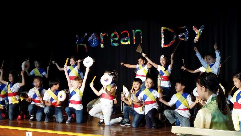 데니스톤 이스트 초등학교 한국의날 행사