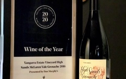 할리데이 올해의 와인은 Yangarra Estate 2016 High Sands Grenache