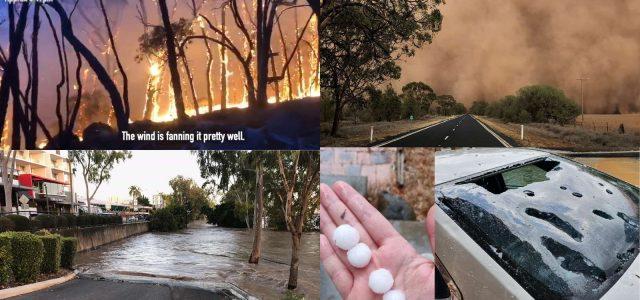 골프공만한 우박, 먼지보라, 관광객은 번개에 맞아 <br> 24시간 동안 악천후 세트 호주 강타