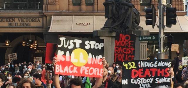 시드니 Black Lives Matter 시위 주최측 추산 5만명-경찰추산 2만명 참가 <br> 시위 직전 항소법원 극적 시위 승인