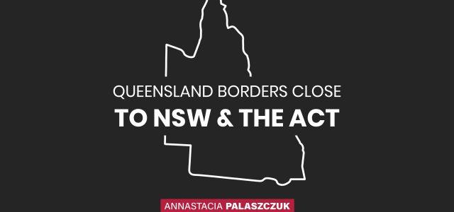 퀸즈랜드 NSW 주경계 다시 봉쇄