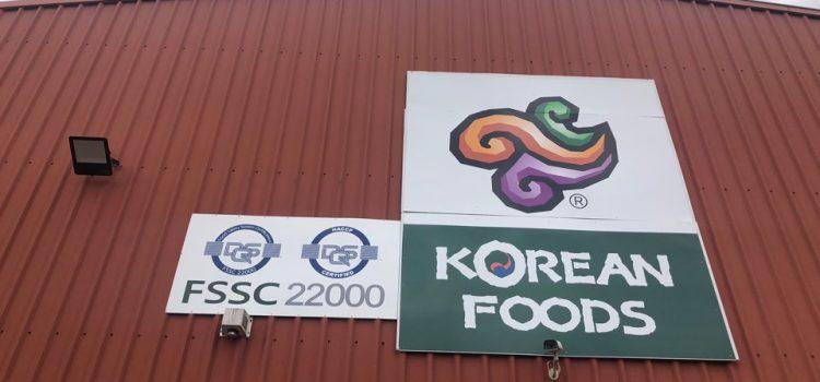 코리안푸드, 호주 한인식품업계 최초 FSSC 22000 인증 획득