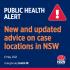 NSW 지역사회 확진자 관련 장소 추가 발표