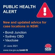 NSW 확진자 방문 장소 추가 – 6월 21일 (3)