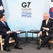 G7 속 한・호주 정상회담 – 수소경제 협력 논의