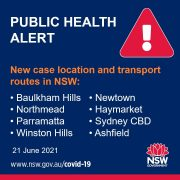 NSW 확진자 탑승 대중교통, 6월 21일 (2)