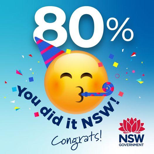 NSW 접종완료 해외입국자 격리・인원제한 모두 없어진다 <br> 16일 NSW 접종완료율 80% 달성